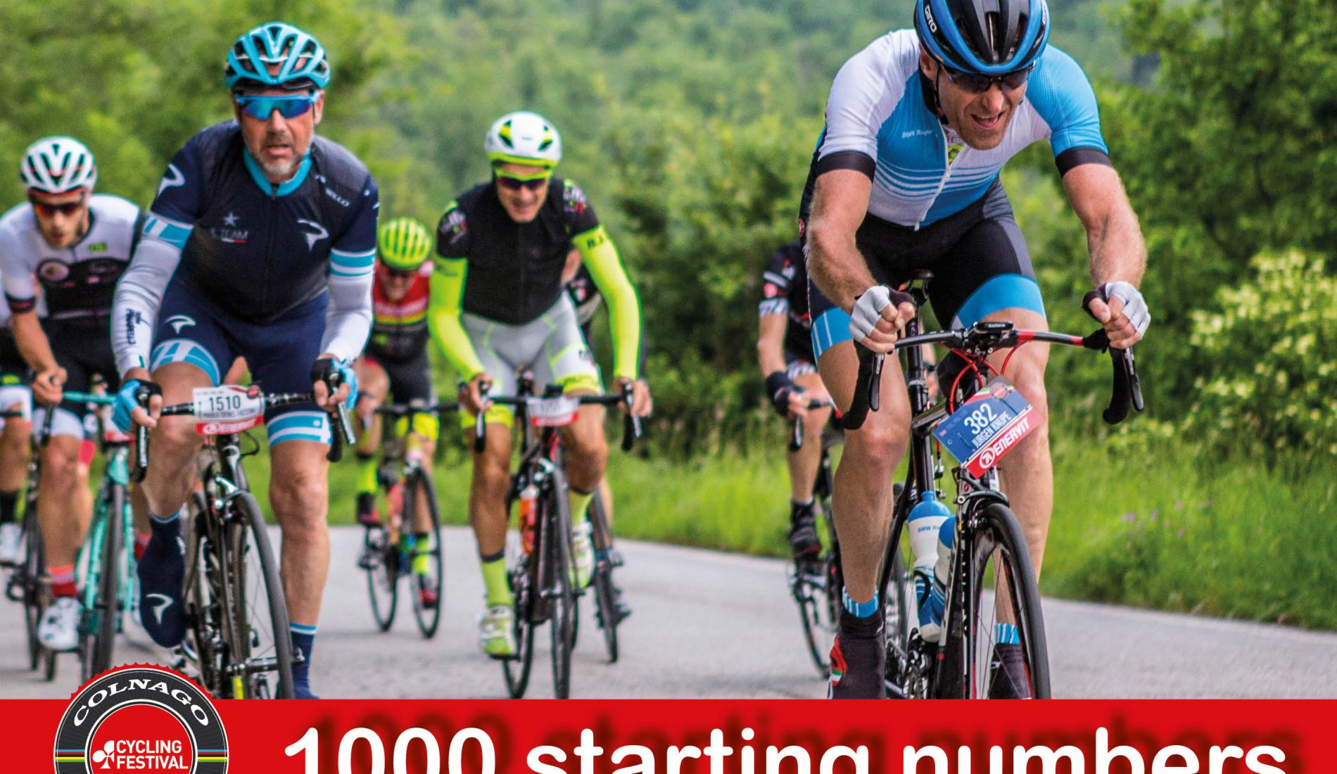 THURSDAY 11th JANUARY 9 p.m. – 1000 RACE NUMBERS FOR THE COLNAGO CYCLING FESTIVAL 2018