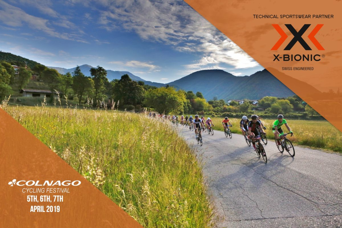 X-BIONIC® TECHNICAL SPORTSWEAR PARTNER OF COLNAGO CYCLING FESTIVAL