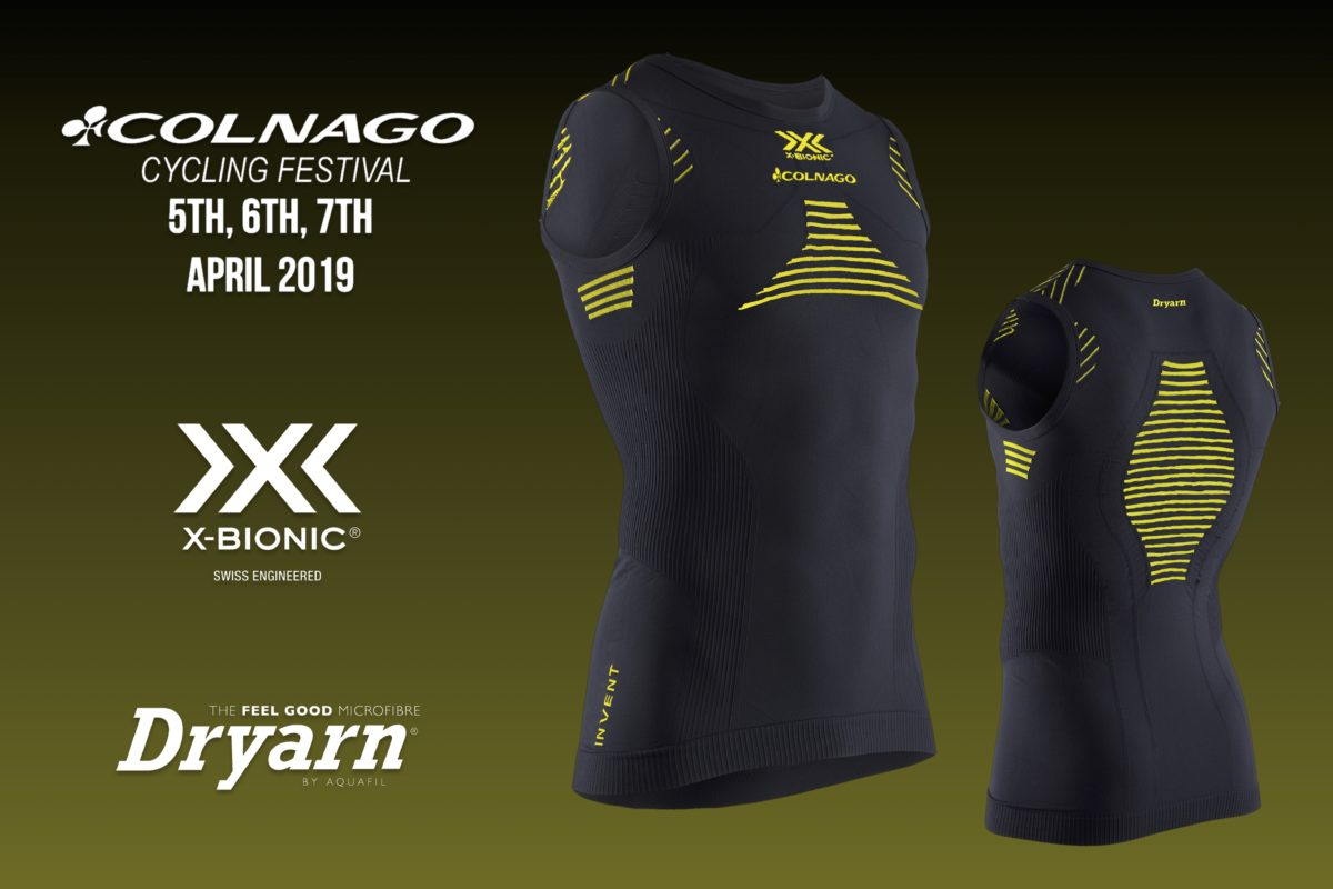 X-BIONIC® and Dryarn®  COLNAGO CF 2019 WEARS THE INNOVATION